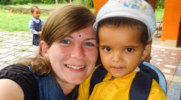 Projekt Nepal: Anne im Waisenhaus Pokhara