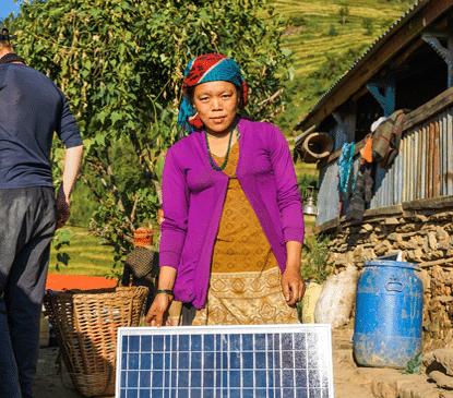 Hilfsprojekte Gorkha, Nepal, Solarmodul