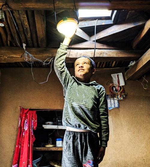 Solarpatenschaft: Kind, LED Licht