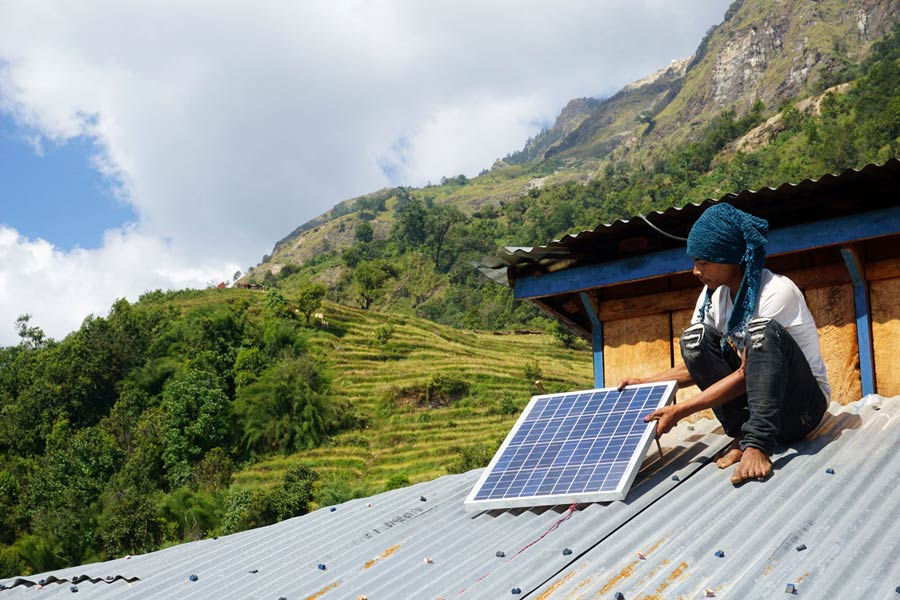 Nepal-SunHelp-Hilfsprojekt